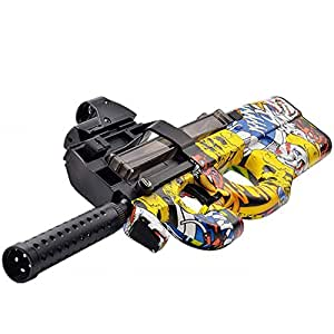 Happytoys P90 Electric Paintball Live CS Assault Snipe Weapon Soft Water Bullet Bursts Gun Outdoors Toy,multi color