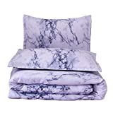 quilts in blue - A Nice Night Marble Design Quilt Comforter Set Bed-in-a-Bag,Queen (Blue-Marble)