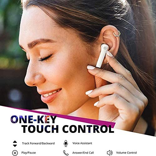 Wireless Earbuds Bluetooth 5.0 Headphones with Charging Case,Built-in Integrated Microphone in-Ear Headphones,for iPhone/Samsung/Android/Apple Airpods