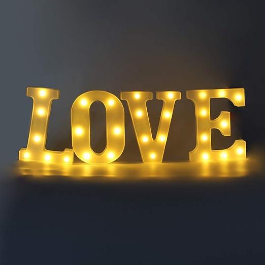 Amazon.com: Coitak - Cartel con luces LED para decoración de ...