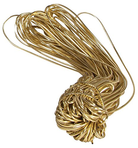 Gold Pre-Tied Stretch Loop Bows, 22'' Loop (1000 Bows) - BOWS-3SLG32 by Miller Supply Inc