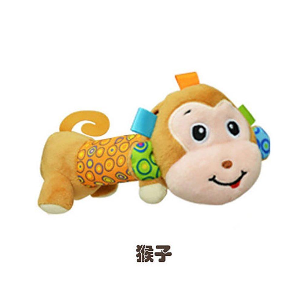 Amazemarket Neugeborenes Baby BB-Stick Hand Rasseln Spielzeuge ausgestopft Tier beschwichtigen Elefant Eule Kinder Intelligenz Spielzeug Elefant