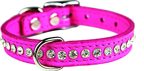 OmniPet Signature Leather Crystal and Leather Dog Collar, 12