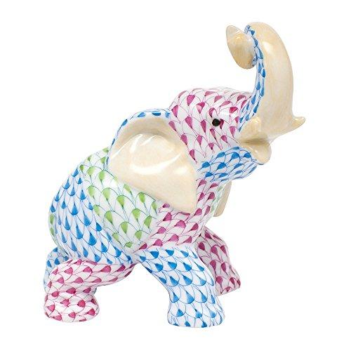 Herend Elephant Patchwork Figurine