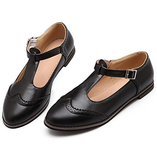 Black Jane Basses Chaussures Classique Boucle Mary RAZAMAZA Femmes zxtWHH0