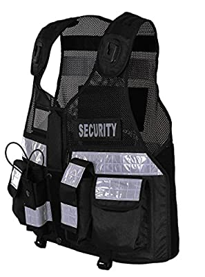 High Visibility Tactical Vest Security, Enforcement, CCTV, Dog Handler, Black Color