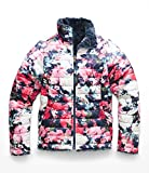The North Face Girl's Reversible Mossbud Swirl Jacket - Atomic Pink Digi Floral Print - L