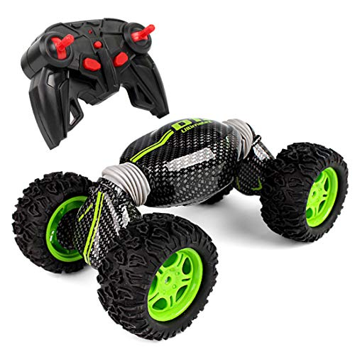 emote Control Racing Double Sided Stunt Off-Road Racing Car- Transform Monster Crawler Tank Vehicle- Rechargeable Buggy Hobby Car High Speed Racing ()
