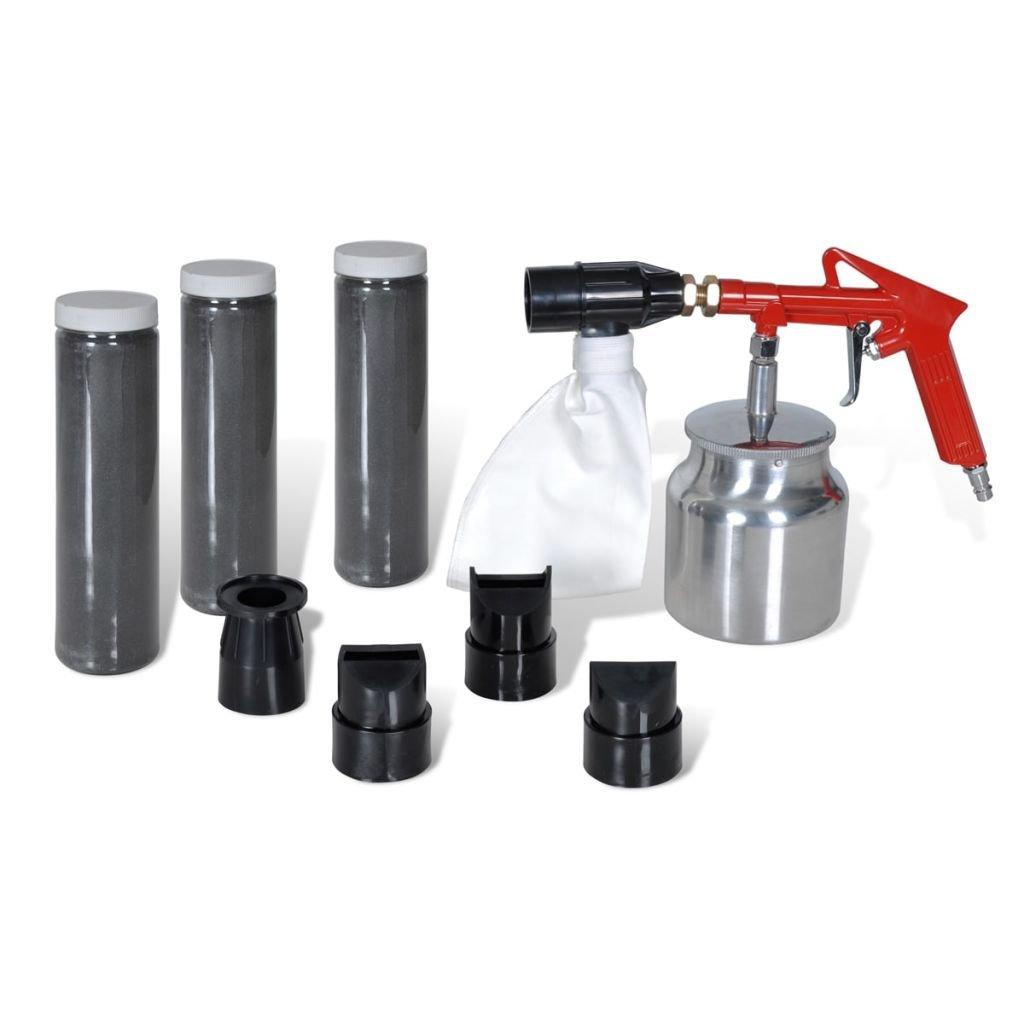 vidaXL Portable Air Sand Blaster Tool Kit for Removing Rust/Paint Sandblaster Gun