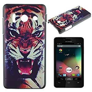 Huawei Ascend Y300 Case, IVY Tiger Graphic,Snap-on PC Hard Case Cover Skin For Huawei Ascend Y300