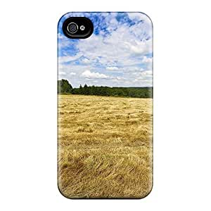 Durable Defender Case For Iphone 4/4s Tpu Cover(fields Of France)