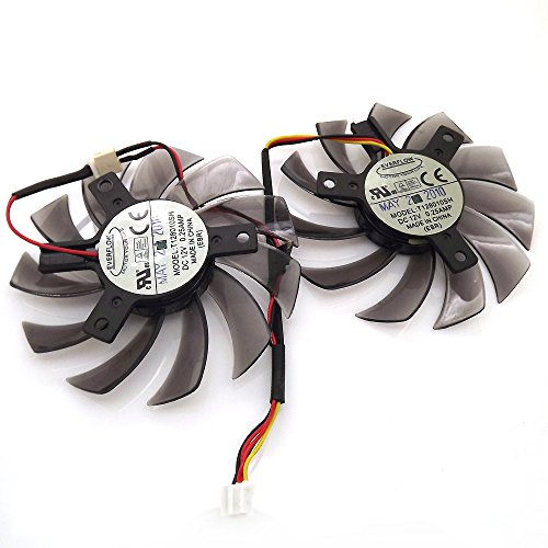T128010SH 12V 0.25A 75mm 3 Pin Replacement Cooling Fan For GV-R585OC-1GD GV-N460OC-1GI Graphics Card Fan