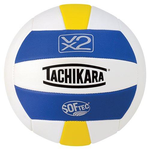 Tachikara SofTec VX2 Volleyball, Royal/White/Yellow