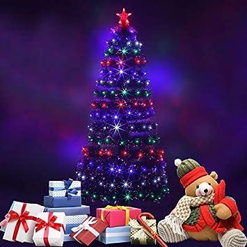 Simoner Premium LED Fiber Optic Christmas Tree, Four Color Changing  Artificial Xmas Tree -Ideal - Amazon.com: Simoner Premium LED Fiber Optic Christmas Tree, Four