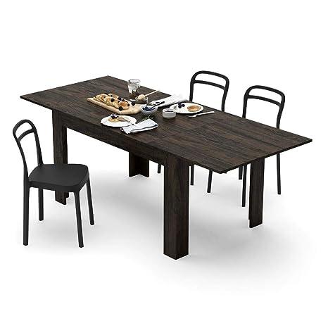 Mobili Fiver, Tavolo allungabile Cucina, Easy, Rovere Brown, 140 x 90 x 77  cm, Nobilitato, Made in Italy, Disponibile in Vari Colori