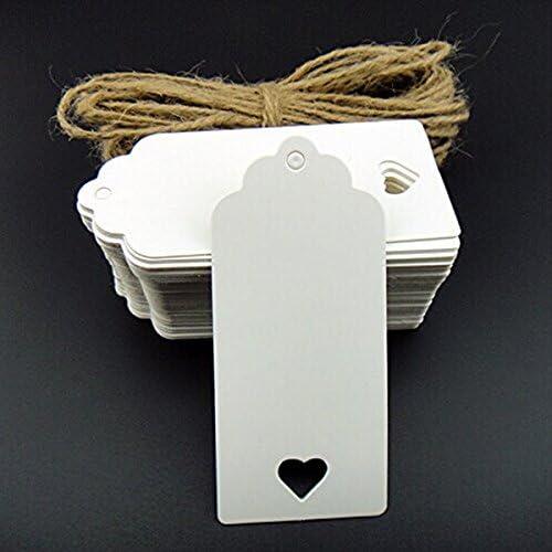Pixnor Papier Kraft Blanc /Étiquettes /étiquettes de cadeau de mariage /étiquette pour bagage Papier /étiquettes 100/Pi/èces