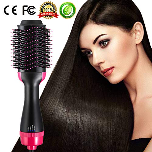 Hot Air Brush One Step Hair Dryer Brush and Volumizer 3-IN-1 Salon Negative Ions Hair Dryer Styler for All Hair Type 1000W, 110V