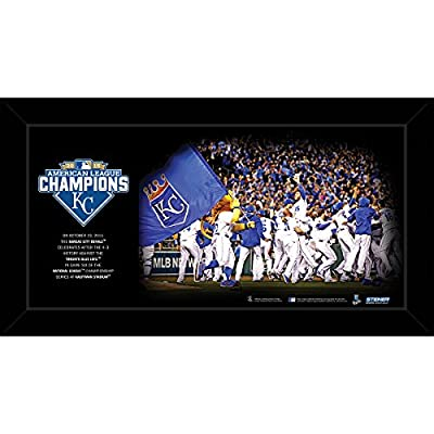 Kansas City Royals 2015 American League Champions Celebration 10 Inch X 20 Inch Custom Framed Photo