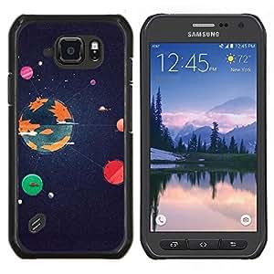 For Samsung Galaxy S6 active/G870A/G890A (Not Fit S6) - Planets Universe Galaxy Earth Sun /Modelo de la piel protectora de la cubierta del caso/ - Super Marley Shop -