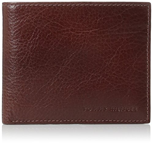 Tommy Hilfiger Wallets for Men - Slim Thin Smart Multipurpose Leather Bifold Passcase with Removable Flipout Card Holder,Tan