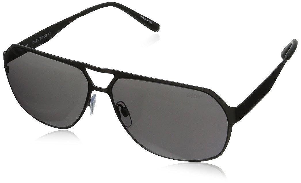 BMW Men's B6501 Modern Flat Metal Aviator Sunglasses Satin Black62 mm Aspex Eyewear Group Parent Code