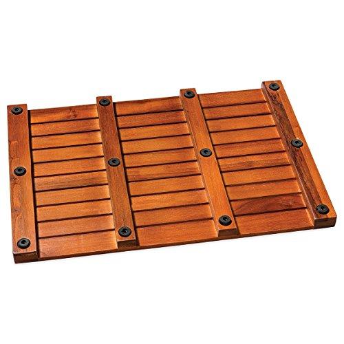 Taymor Teak Bath Mat Solid Natural Wood Luxury Spa Floor