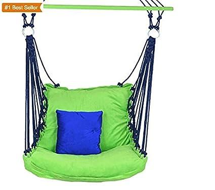 Aashi Enterprise EA Jumbo Adult Swing And Hammock Chair With Cushion Green/Blue