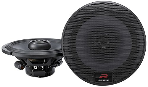 Alpine R-Series 6.5 Inch 300 Watt Coaxial 2-Way Car Audio Speakers, Pair | R-S65 by Alpine