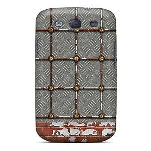 BrownCases IgR3472fvVi Case Cover Galaxy S3 Protective Case Rusty Metal Brick