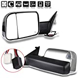 oem tow mirrors - ECCPP Towing Mirror Replacement fit for 2010 Dodge RAM 1500 2500 3500 Pickup,2011 2012 2013 2014 2015 2016 2017 Dodge RAM 1500 2500 3500 Chrome Power Heated Puddle Signal Light Pair Mirrors