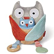 Skip Hop Baby Treetop Friends Hug-and-Hide Wise Owl Activity Toy, Grey Pastel (Recolor), Multi