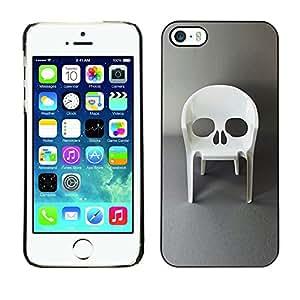 Planetar® ( Design Furniture Skull Vampire Chair ) iPhone 5 / 5S Fundas Cover Cubre Hard Case Cover