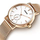 Best Golden Watches - Time100 Fashion Stylish Simple White Dial Stainless Steel Review
