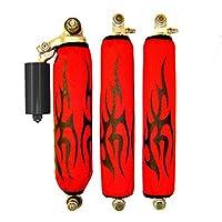 Yamaha banshee Black Tribal Red Shock Cover