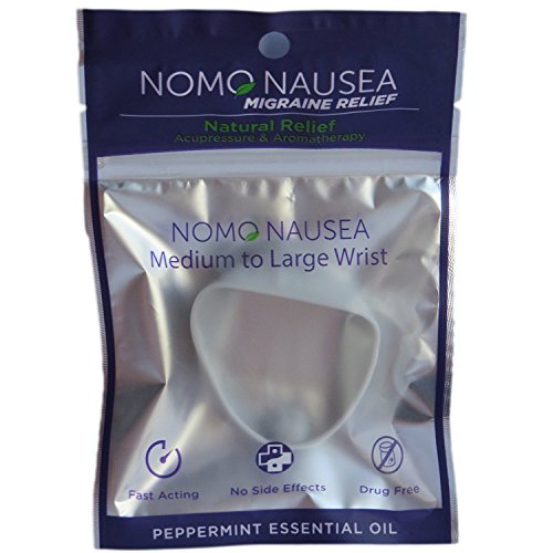 NoMo Nausea Migraine Large Gray Aromatherapy Anti-MIgraine Band with Acupressure