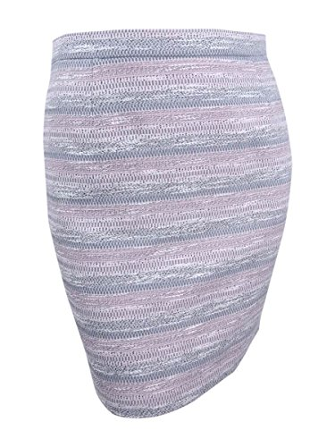 Tahari Women's Petite Striped Tweed Pencil Skirt (12P, Pink/Grey)
