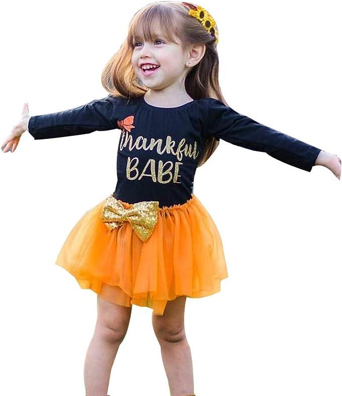 ASHOP Vestidos niña/ Vestido de Arco de acción de Gracias/Tutu ...