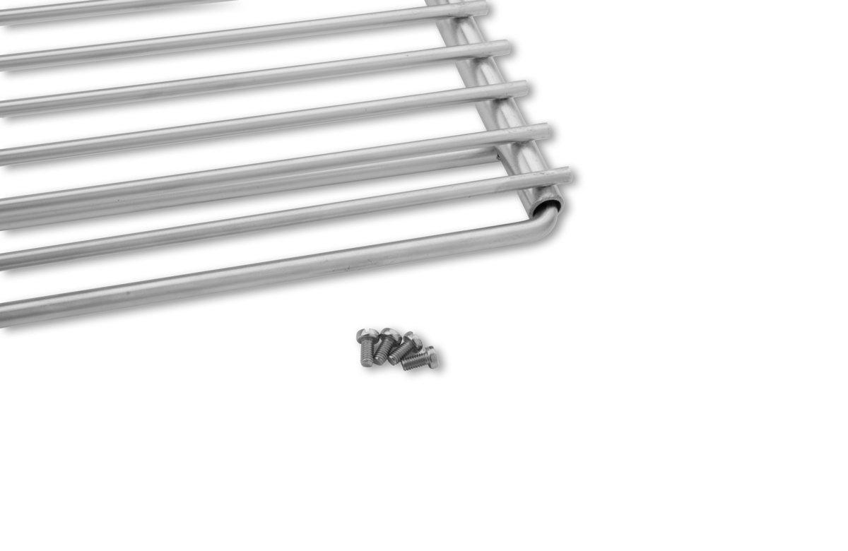 Parrilla en acero inoxidable europea de anchura ajustable 50-60x45cm