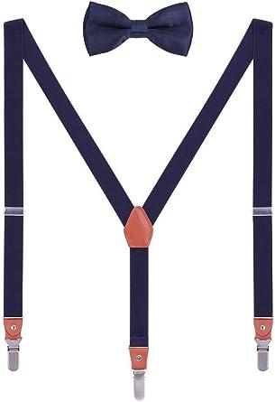 WANYING Tirantes Pajaritas Set para Hombre Mujer 3 Clips Largos Fuertes en Y-Forma Elástico Tirantes para Altura 140-185cm -: Amazon.es: Ropa y accesorios