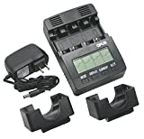 Opus BT-C2000-charger-set AC 100-240V Battery Charger Tester Analyzer NiMH NiCd AA AAA C D Cells, Wall Adapter 12 Volt Input Portable Option