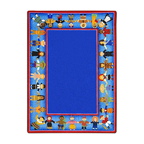 Joy Carpets Kid Essentials Early Childhood Children of Many Cultures Rug, Multicolored, 5'4'' x 7'8'' by Joy Carpets
