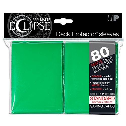 PRO-Matte Eclipse Green Standard Deck Protector sleeves (80 count pack) by Ultra Pro
