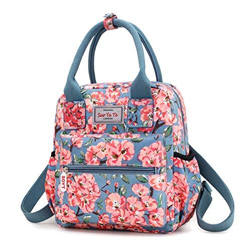 - Backpack For Women Waterproof Laptop Backpack Travel Backpack School Backpacks Handbags Hold TabletPC Pad Pink Flowers