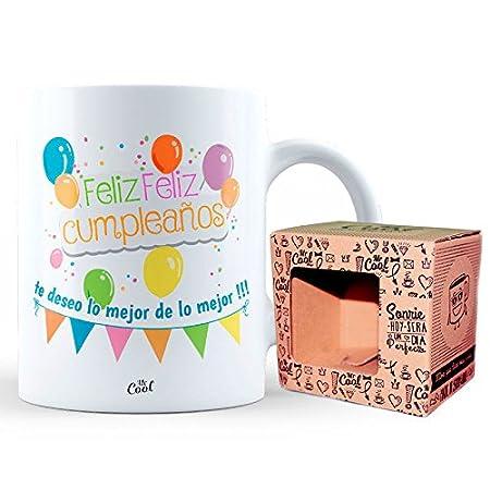 Mr Cool Taza en Caja Regalo en Mensaje Feliz Cumpleaños te ...