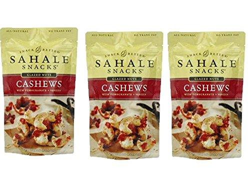 Price comparison product image Sahale Snacks All Natural Glazed Nut Blend (4oz x 3 Packs) (Cashews with Pomegranate and Vanilla)