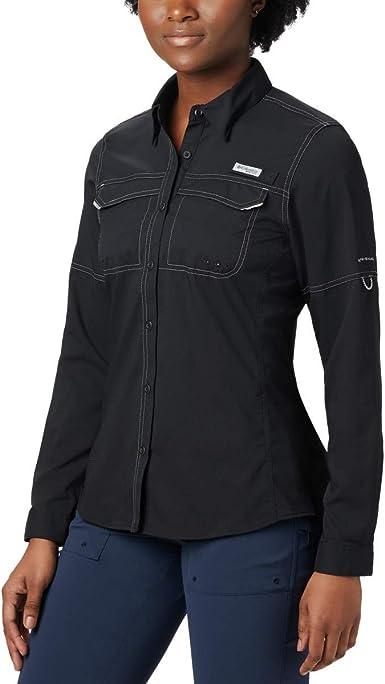 Columbia Women's PFG Lo Drag Long Sleeve Shirt, Moisture Wicking, Sun Protection