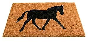 Gardman Coir - Felpudo, diseño de caballo