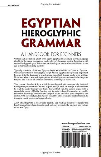 Egyptian Hieroglyphic Grammar: A Handbook for Beginners
