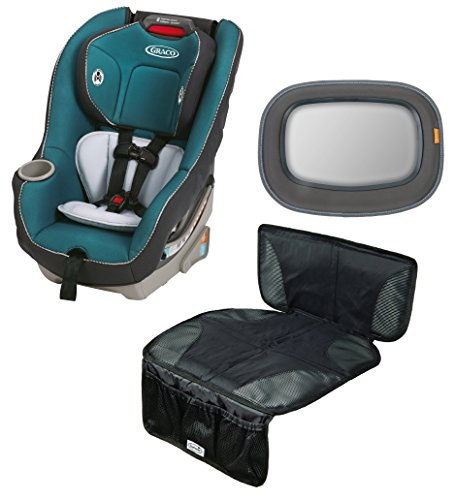 Graco Contender 65 Convertible Car Seat with Auto Seat Protector & Backseat Mirror, Sapphire