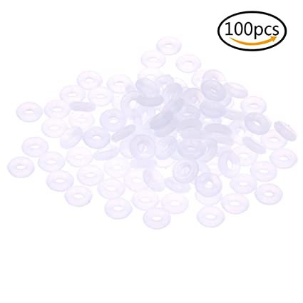 Yeshan 200PCS Silicone Rubber Stoppers Ring Bead Charms for Use Alone or with Clip Lock Spacer Charm